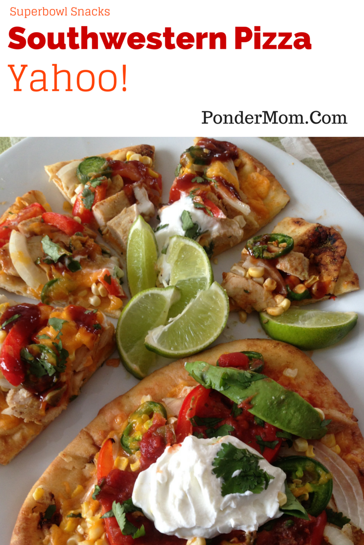 Superbowl Snacks: Southwestern Santa Fe Pizza