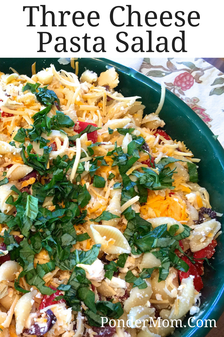 Three-Cheese Pasta Salad with Olives as well as Other Easter Sides
