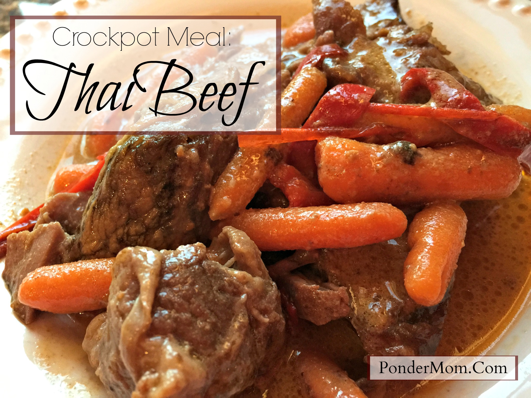 Celebrating Crock-tober: 10-Minute-Prep Thai Beef