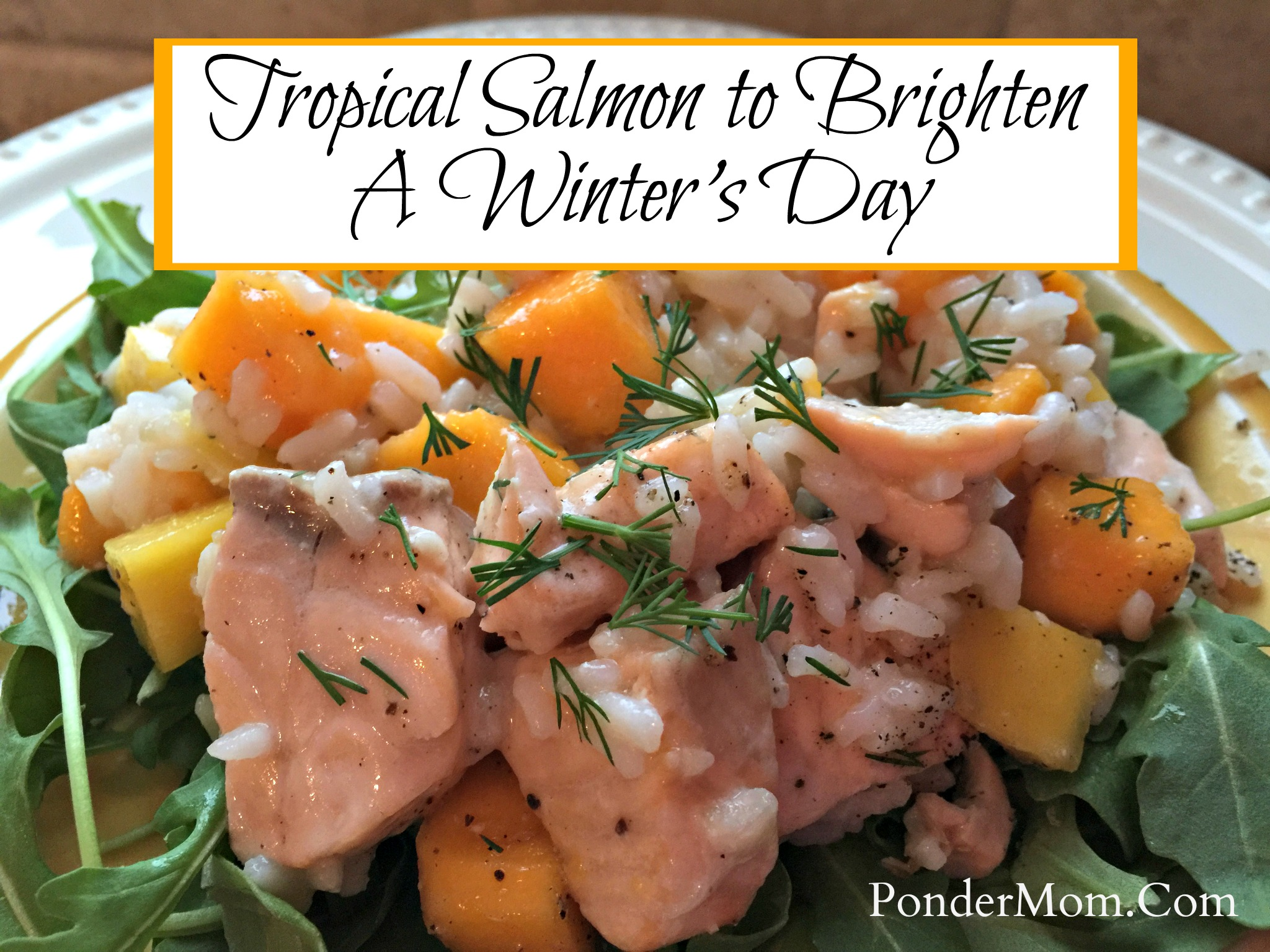 Healthy Meal #1 – Caribbean Salmon: A Taste of Summer in the Dead of Winter!