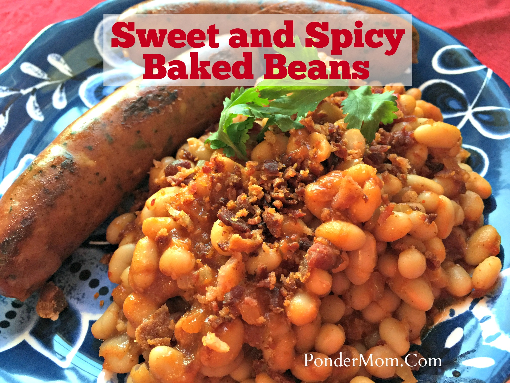 Healthy Meal #2: Smoky Chipotle Baked Beans with Bacon and Chicken Sausage