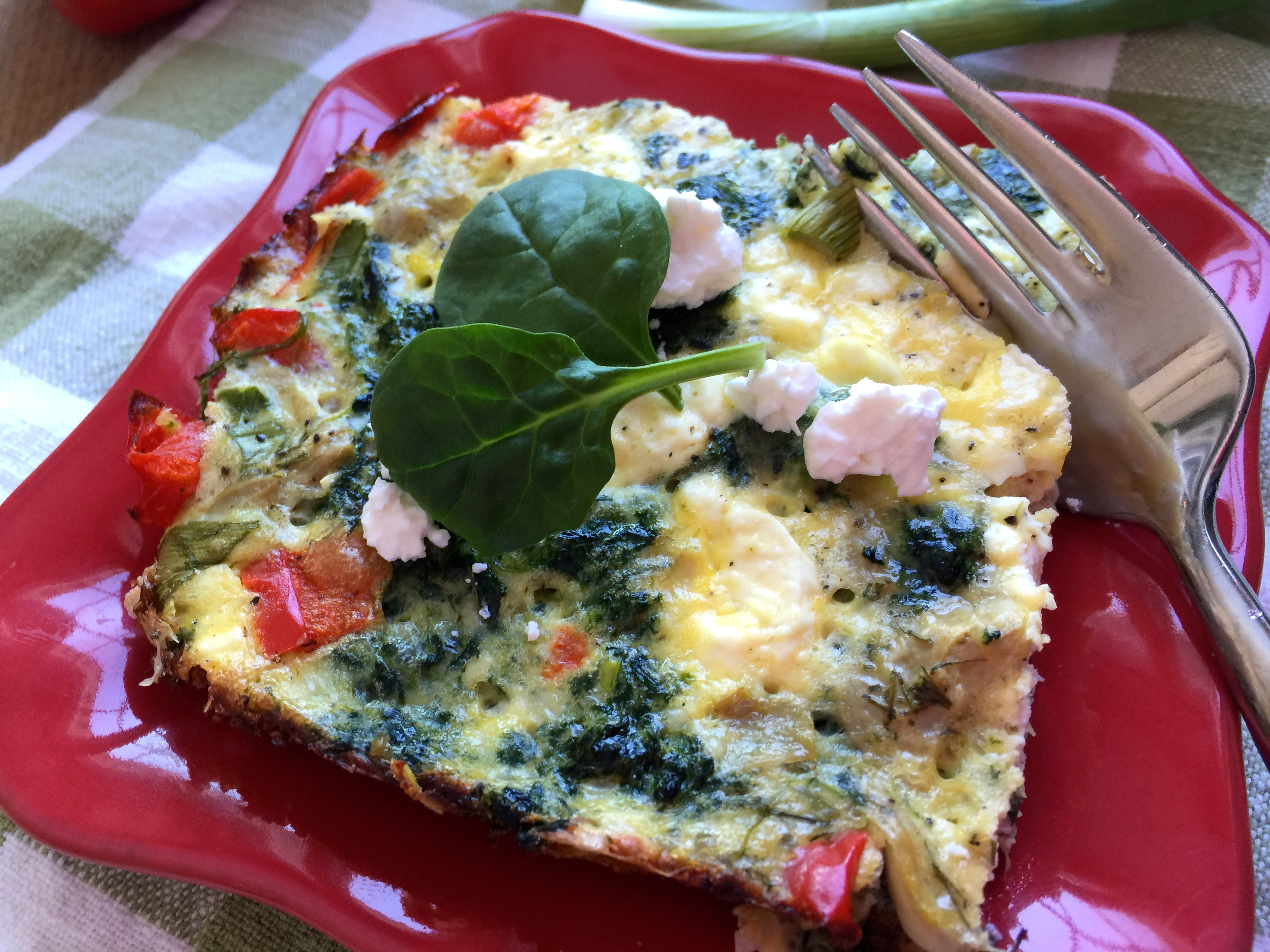 Healthy Meal #7: Pre-made Egg, Spinach, Artichoke, and Feta Squares – Breakfast on the Run!